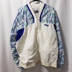 FILA Retro Windbreaker Jacket Full Zip 3XL